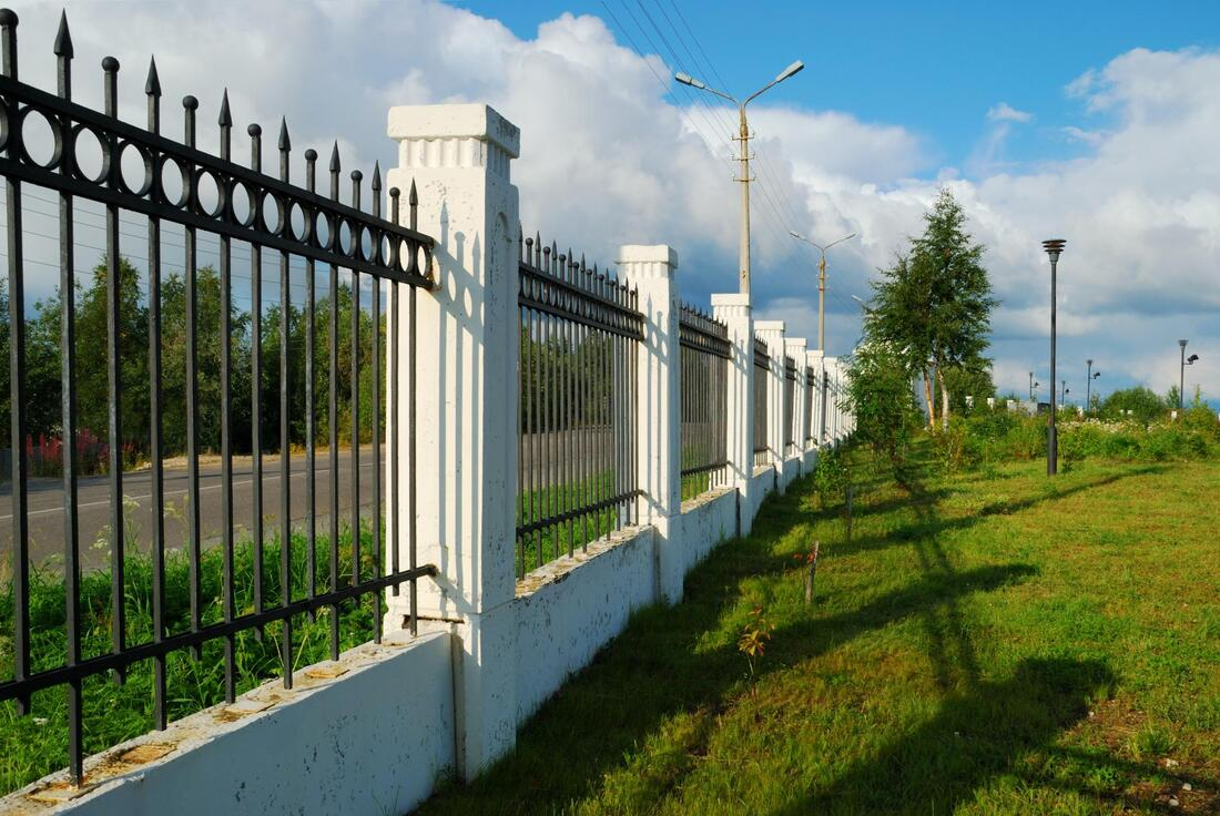 new iron fence installed